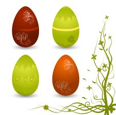 Set Of Vector Eggs Royalty Free Stock Photo