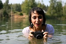 Free Photographer In Water Stock Images - 8262104