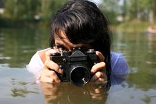 Free Photographer In Water Stock Photography - 8262212