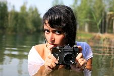 Free Photographer In Water Royalty Free Stock Photography - 8262347