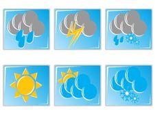 Weather Icon Set Stock Image