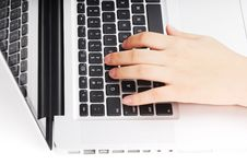 Free Typing On Keyboard Stock Photo - 8262740