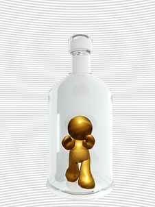 Free Icon Figure Trapped On A Bottle Royalty Free Stock Photo - 8262745