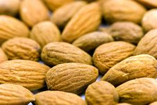 Free Almond Nuts - Close Up For Pile Of Almond Nuts As Royalty Free Stock Images - 8262889