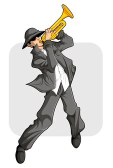 Trumpet Player Show Royalty Free Stock Photography