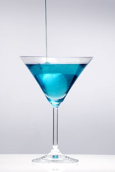 Free Blue Cocktail Stock Photography - 8263542
