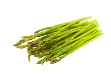 Fresh Asparagus Isolated Royalty Free Stock Photo