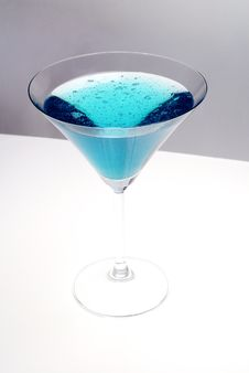 Free Blue Cocktail Royalty Free Stock Image - 8263616