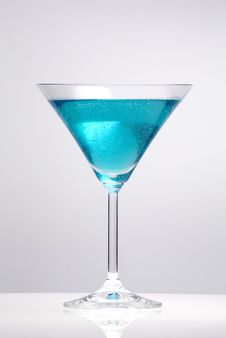 Free Blue Cocktail Stock Photo - 8263660