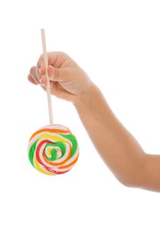 Free Color Lollipop In Child Hand Stock Photos - 8263753