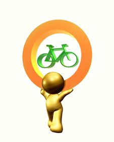 Bike Free Icon Symbol Stock Images