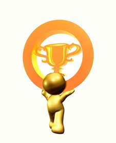 Free Icon Figure With Trophy Symbol Stock Images - 8264054