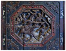 Free Piece Of Wood Carving In The Beijing Opera Perform Royalty Free Stock Photo - 8264365