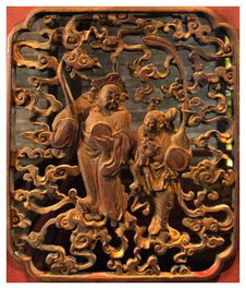 Free Piece Of Wood Carving In The Beijing Opera Perform Stock Photography - 8264372