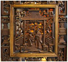 Free Piece Of Wood Carving In The Beijing Opera Perform Royalty Free Stock Photos - 8264378