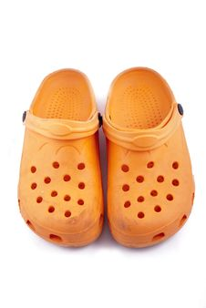 Free Orange Shoes Stock Image - 8264391