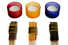 Free Candles And Aromatic Sticks Stock Photo - 8264710