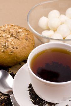 Free Tea, Mozzarella And Bread Stock Photos - 8264793