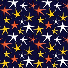 Free Seamless Pattern With Stars Stock Photo - 8265850
