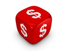Free Red Dice With Dollar Sign Royalty Free Stock Image - 8266146