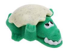 Free Funny Green Crocodile Toy On White Royalty Free Stock Photography - 8266387