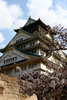 Free Castle Among Cherry Blossoms Royalty Free Stock Photos - 8266398