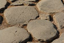 Free Very Old Roman  Pavement Stock Photo - 8266430