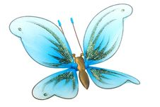Beautiful Butterfly Toy On White Stock Image