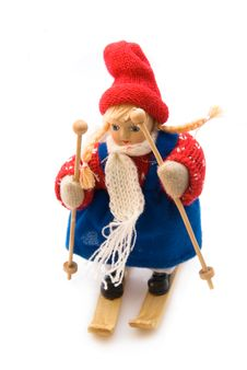 Ski Doll For Children Stock Photos