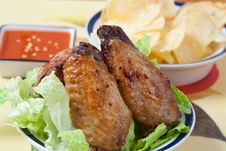Free Chicken Wings Royalty Free Stock Image - 8267696