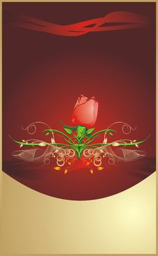 Free Red Rose. Floral Background For Wrapping Stock Image - 8267891