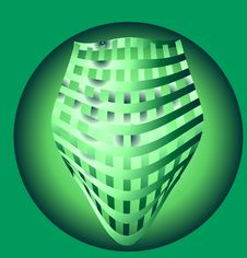 Free Woven Green Background Royalty Free Stock Photos - 8267928