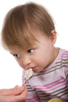 Free Baby Girl Eating Stock Image - 8268131