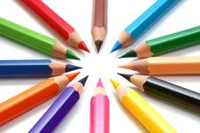 Free Colors Pencils Stock Photo - 8268160
