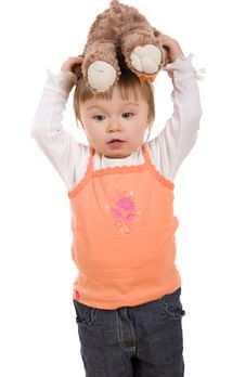 Free Happy Baby Girl Royalty Free Stock Image - 8268196