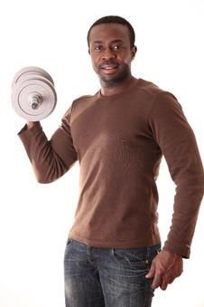 Free Man In Studio Royalty Free Stock Photos - 8269138