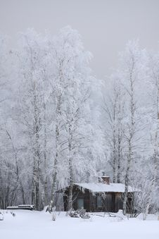 House In Winter Royalty Free Stock Photography