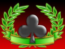Free Poker Banner Flowers Royalty Free Stock Photos - 8269528