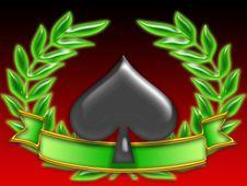 Free Poker Banner Spades Stock Image - 8269631