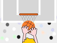 Free Basketball Match Royalty Free Stock Image - 8269776