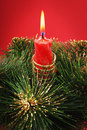 Free Red Candle Royalty Free Stock Photo - 8270975