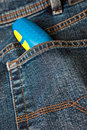 Free Blue Denim Jeans With A Screw Driver In The Pocket Royalty Free Stock Photo - 8275265