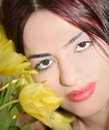 Free Woman Face In Tulips Royalty Free Stock Photos - 8275768