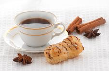 Coffee With Spices And Pastry