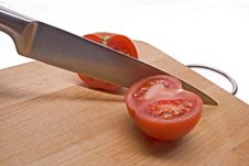 Free Sliced Tomato On The Board. Stock Image - 8270891