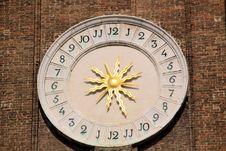 Venecian Clock Stock Photography