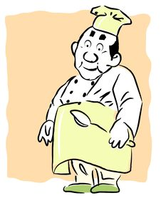 Free Cartoon Illustration Of A Chef Stock Photography - 8271082