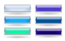 Free Set Of Blue Buttons Royalty Free Stock Photos - 8271148