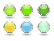 Free Set Of Buttons Stock Images - 8271204