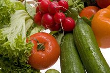 Free Fresh, Wet Vegetables. Royalty Free Stock Photography - 8271307